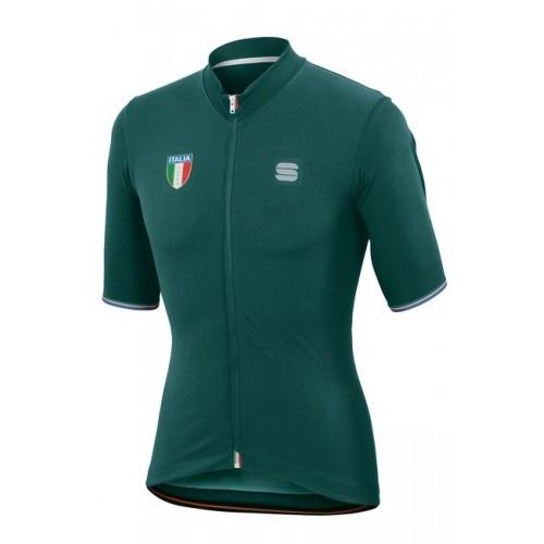 Μπλούζα με κοντό μανίκι Sportful ITALIA Jersey S/S - Green