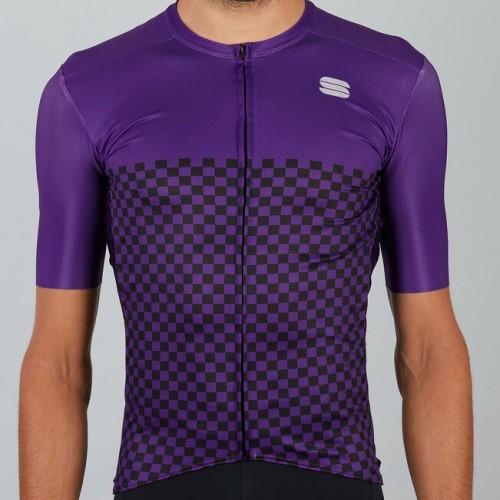 Μπλούζα με κοντό μανίκι Sportful CHECKMATE Jersey S/S - Violet