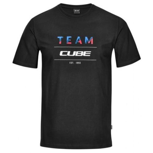 Μπλούζα Cube με κοντό μανίκι μαύρο T-Shirt Team - 11448