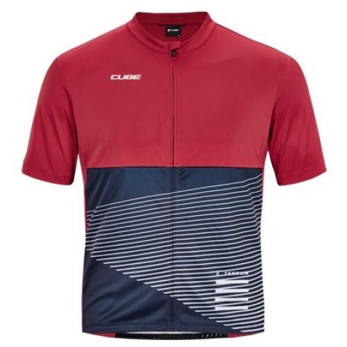 Μπλούζα με κοντό μανίκι Cube ATX Jersey Full Zip S/S - 11470
