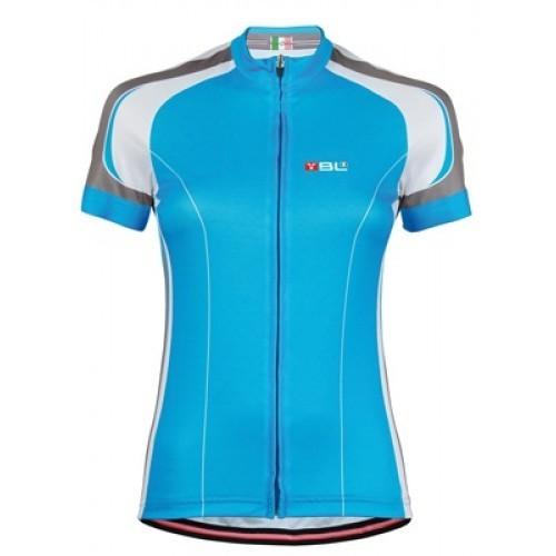 Γυναικεία μπλούζα Bicycle Line με κοντό μανίκι Kinetic-Μπλέ.
