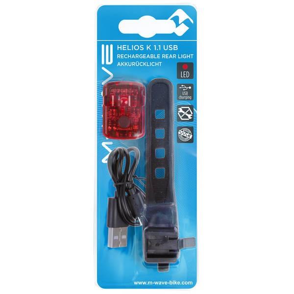 M-WAVE Φως Μπαταρίας Helios K 1.1 USB SL rech