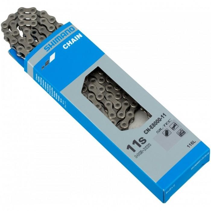 ΑΛΥΣΙΔΑ SHIMANO CN-E8000-11, 116LINKS FOR HG-X 11 SPEED, AMPOULE TYPE CONNECTING PIN x 1, IND.PACK
