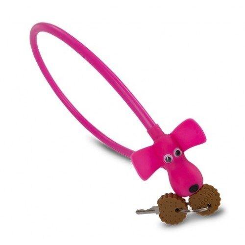 """Κλειδαριά RFR Cable Lock HPS """"DOG"""" Pink - 13320"""